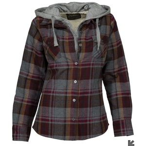 Natural Reflections 2-in-1 Hooded Flannel Shirt